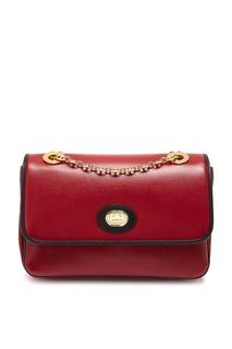 Черно-красная сумка-кроссбоди с логотипом GG Gucci