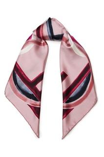 Розовый платок с геометричным принтом F Is Fendi