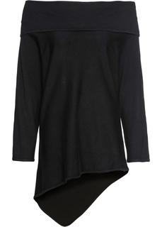 Пуловер оверсайз с открытыми плечами Bonprix