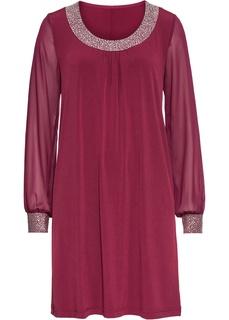 Платья с длинным рукавом Платье с аппликациями из стразов Bonprix
