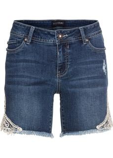 Джинсовые шорты Шорты джинсовые с кружевом Bonprix