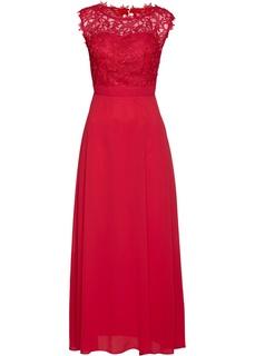 Длинные платья Вечернее платье макси Premium с кружевом Bonprix