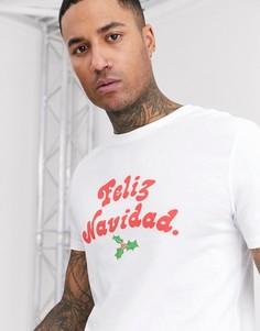 Новогодняя футболка классического кроя ASOS DESIGN
