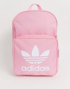 Розовый рюкзак с логотипом-трилистником adidas originals