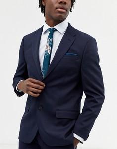 Набор из узкого галстука и платка для нагрудного кармана с цветочным принтом ASOS DESIGN