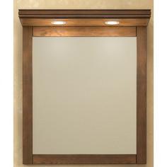 Зеркало Opadiris Мираж 65 с козырьком и подсветкой, светлый орех Р10 (Z0000004695 + Z0000004869)