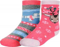 Носки для девочек Columbia, 2 пары, размер 27-30