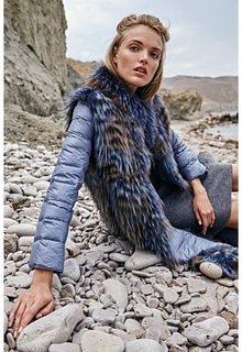 Двухсторонняя шуба из меха чернобурки Virtuale Fur Collection