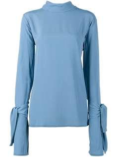 Marni блузка с длинными рукавами и завязкой на бант
