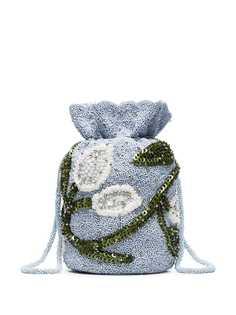 Ganni сумка с отделкой пайетками