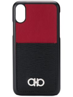 Salvatore Ferragamo Gancini plaque iPhone X case
