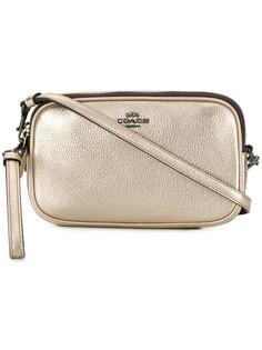 Coach сумка через плечо с металлическим отблеском