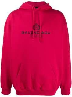Balenciaga худи оверсайз с логотипом