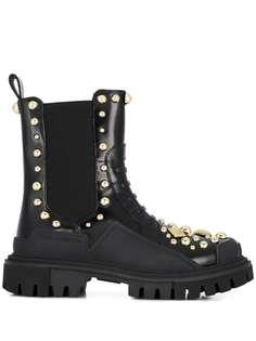 Dolce & Gabbana ботинки в стиле милитари с заклепками