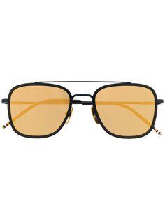Thom Browne Eyewear солнцезащитные очки-авиаторы в квадратной оправе