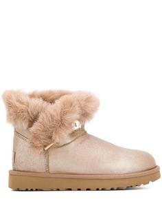 Ugg Australia faux fur flat ankle boots