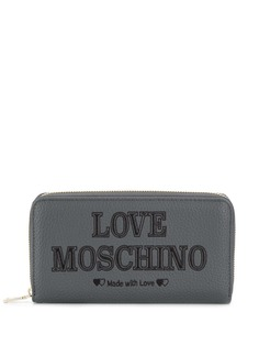 Love Moschino embroidered wallet