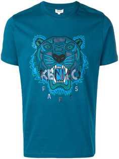 Kenzo футболка с принтом тигра и логотипа