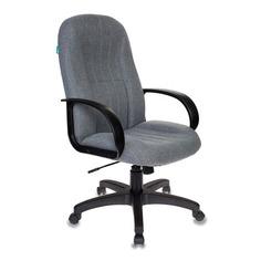 Кресло руководителя БЮРОКРАТ T-898AXSN, на колесиках, ткань, серый [t-898axsn/10-128]