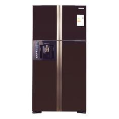 Холодильник HITACHI R-W 722 FPU1X GBW, двухкамерный, коричневое стекло