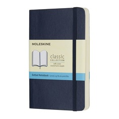 Блокнот Moleskine CLASSIC SOFT Pocket 90x140мм 192стр. пунктир мягкая обложка синий сапфир 9 шт./кор.