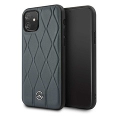 Чехол (клип-кейс) Mercedes Hard Case, для Apple iPhone 11, темно-синий [mehcn61mulna] Noname