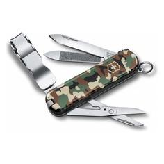 Складной нож VICTORINOX Nail Clip 580, 8 функций, 65мм, камуфляж