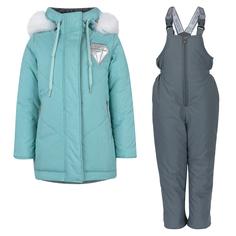 Комплект куртка/полукомбинезон Аврора Кристэл, цвет: голубой/серый Avrora