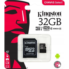 Карта памяти Kingston Canvas Select MicroSD 32GB Class 10