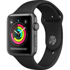 Умные часы Apple Watch Series 3 42 мм серый космос MTF32RU/A