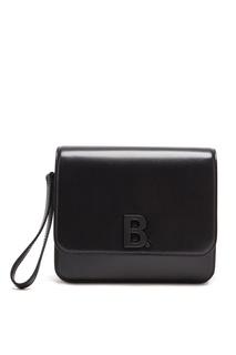 Черная кожаная сумка-кроссбоди B Balenciaga