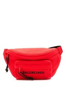 Красная поясная сумка Wheel Balenciaga