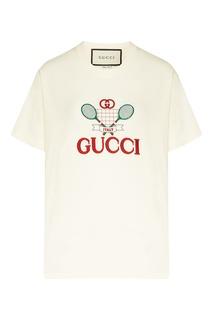 Белая футболка Gucci Tennis