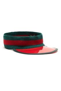 Кепка красно-зеленого цвета Gucci