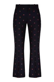 Укороченные брюки с принтом Gucci