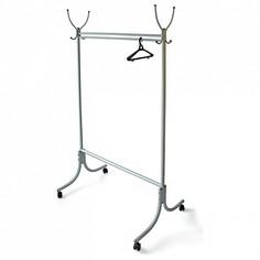Вешалка напольная Вешалка гардеробная М-13 алюминий (с колесиками) Мебелик