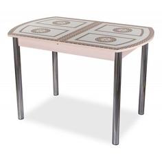 Стол обеденный Танго ПО со стеклом Домотека