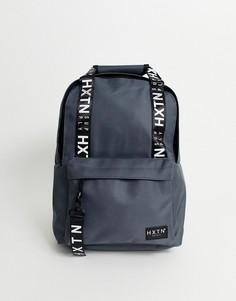 Серый рюкзак с отделкой кантом с логотипом HXTN Supply