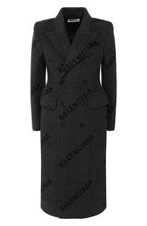 Двубортное пальто из кашемира Balenciaga