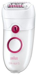 Триммер Braun 5380 Silk-epil 5 (бело-розовый)