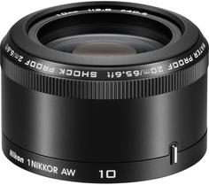 Объектив Nikon 1 NIKKOR AW 10mm f/2.8 (черный)
