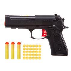 Игрушечное оружие BONDIBON Пистолет с мягкими пульками 8 мм и патронами (разноцветный)