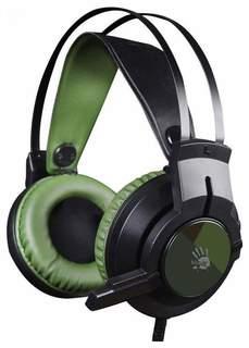 Наушники A4Tech Bloody J450 (зелено-черный)