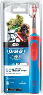 Электрическая зубная щетка Braun Oral-B StagesPower StarWars (красный)