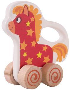 Каталка Деревяшки Лошадка Иго-го (разноцветный)