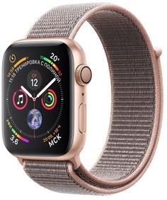 Умные часы Apple Watch Series 4, 40 мм, корпус из золотистого алюминия, спортивный браслет цвета «розовый песок» (золотистый)