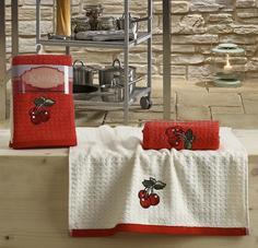 Кухонные полотенца Karna LEMON 45x65 1/2 V2 (красный)