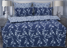 Комплект постельного белья KAZANOVA Темари, евро (с рисунком)