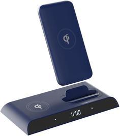 Внешний аккумулятор InterStep PB10DQi PRO 10000 мАч док станция TypeC PD (синий)