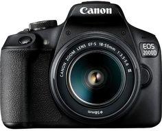 Зеркальный фотоаппарат Canon EOS 2000D Kit EF-S 18-55mm 3.5-5.6 III (черный)